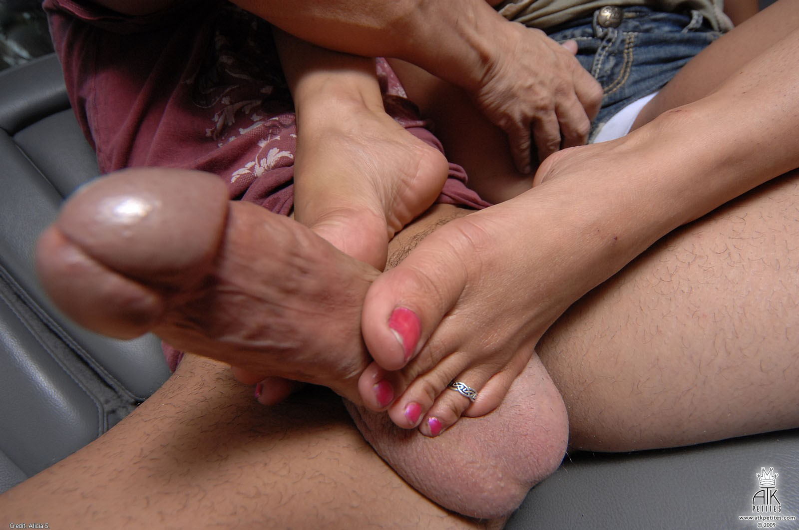 Her hand brushed his hard cock consider